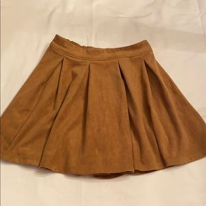 Abercrombie Kids Faux Suede Skater Skirt